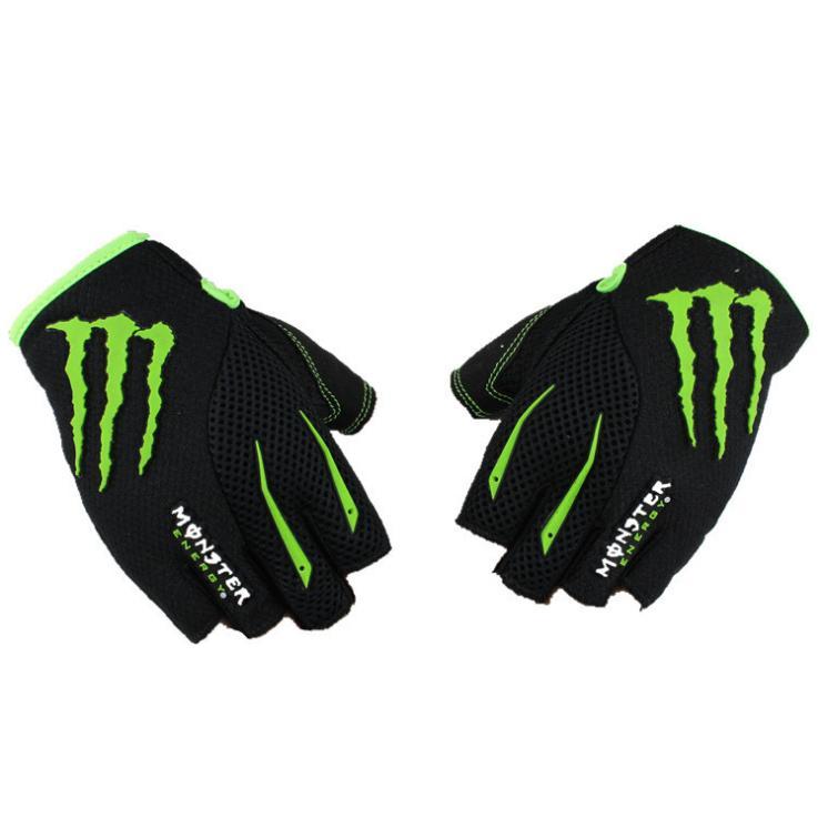 Găng tay Monster cụt ngón viền xanh