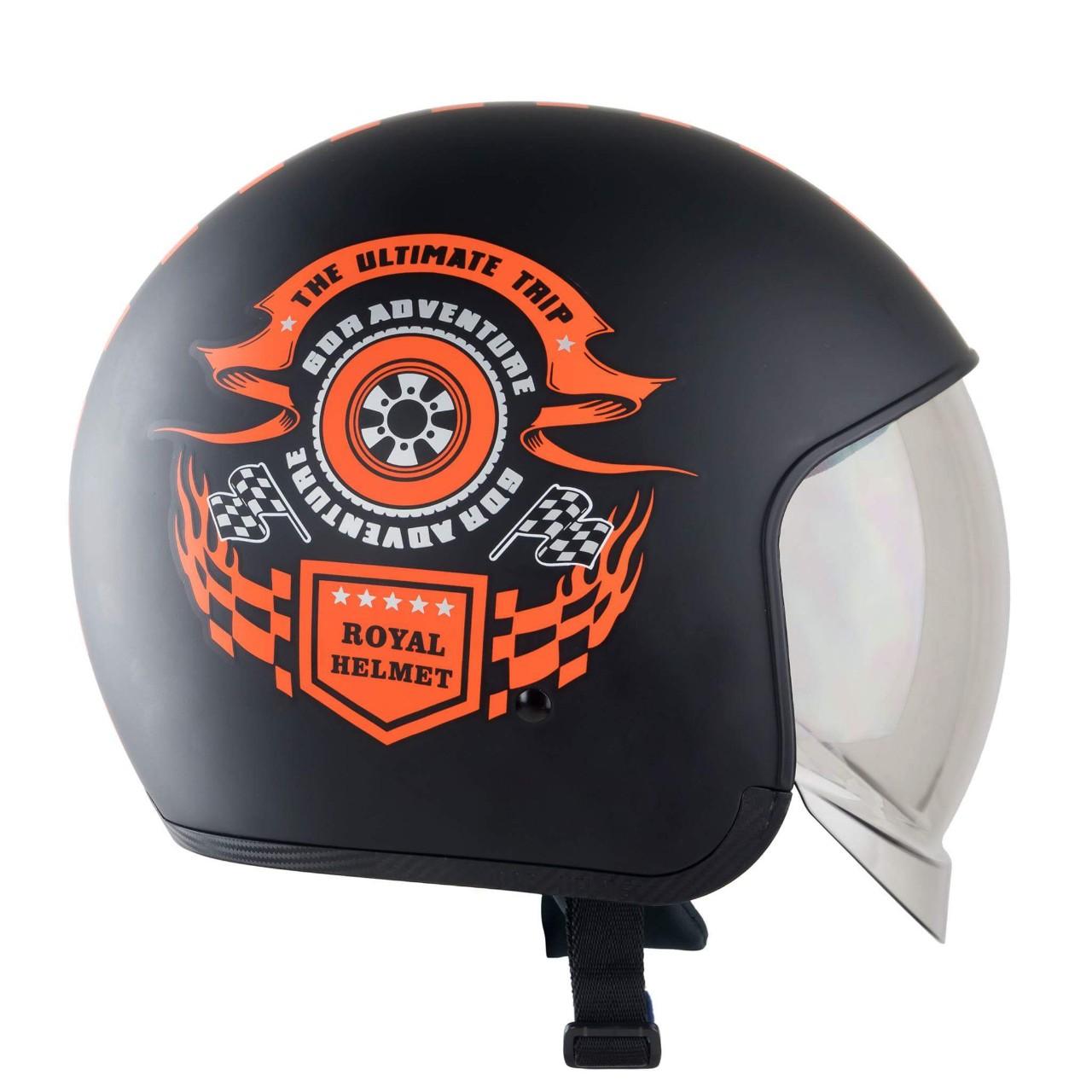 Mũ bảo hiểm 3/4 kính âm Royal M139 Design