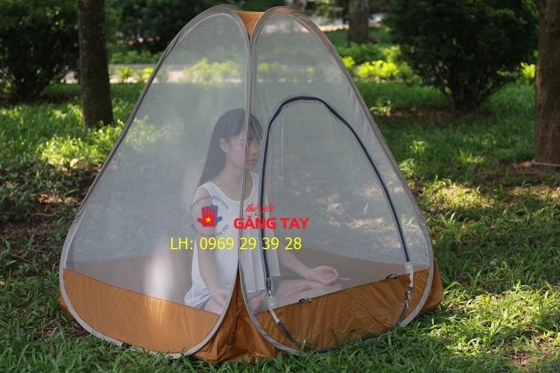 Mùng - lều ngồi thiền tự bung cao cấp kèm túi ngủ
